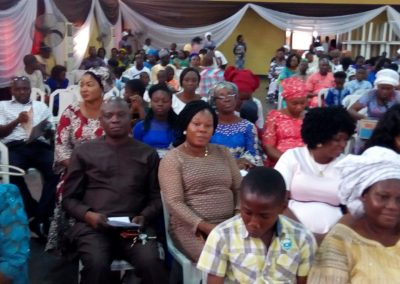 Cross section of Parents @ the 2018 Valedictory Service