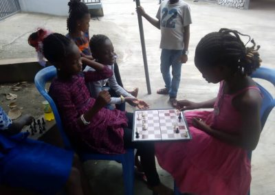 Students Playing Chess During Summer School