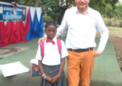 Rubies student at Alliance Francaise spelling bee