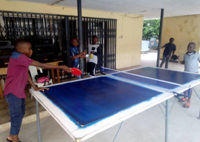 Students Playing Table-Tennis During Summer School
